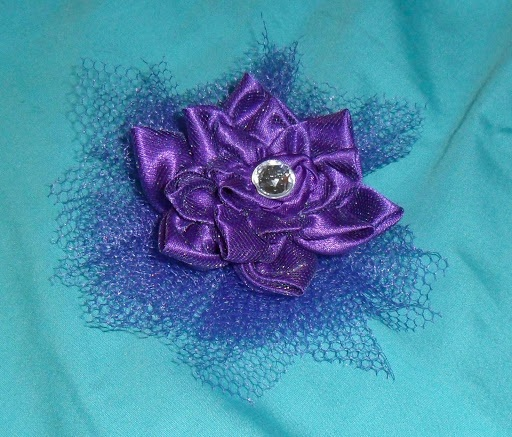 Fabric Flowers 2 more styles ~ Tangled & Pinwheel