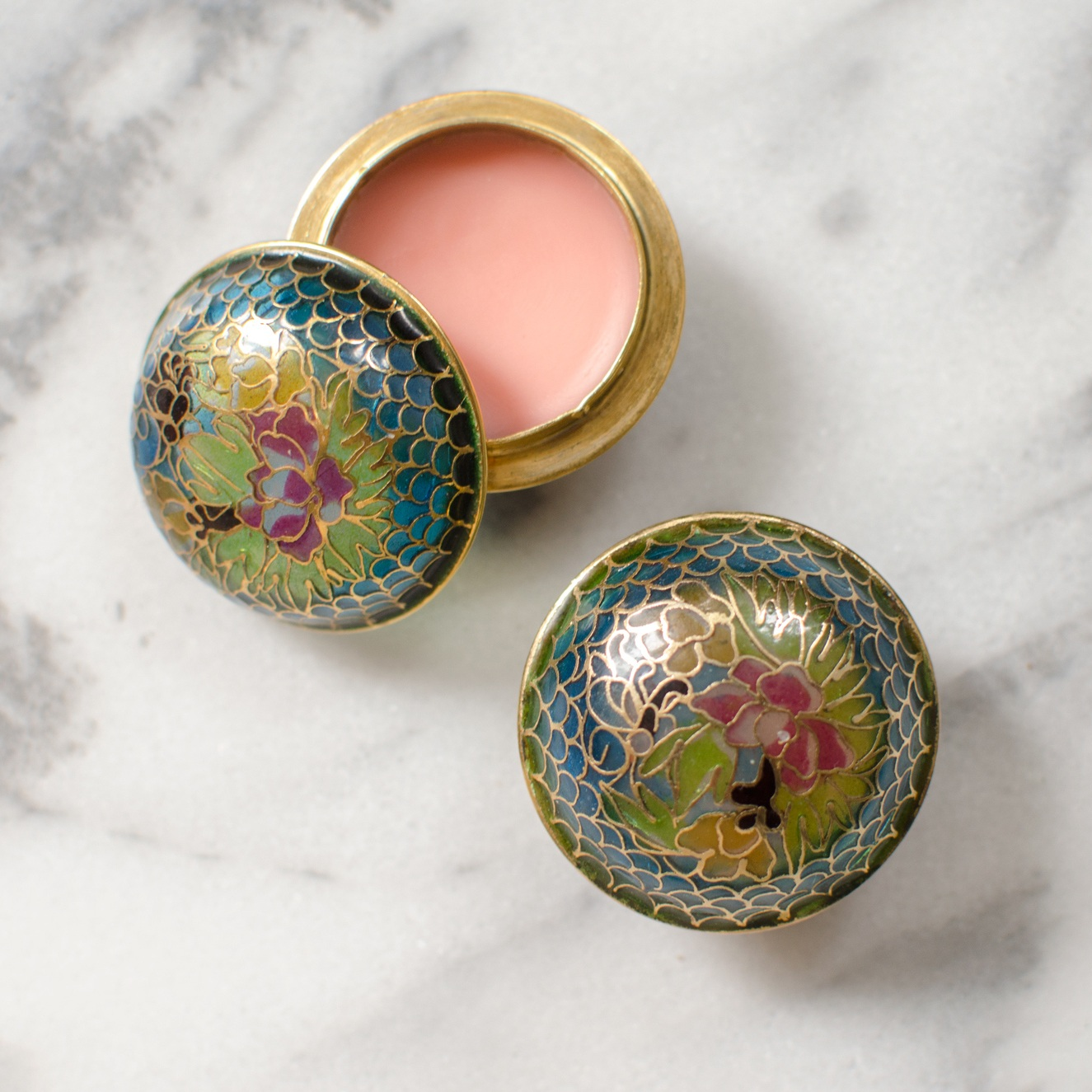 Homemade Lip Balm in Vintage Pillboxes