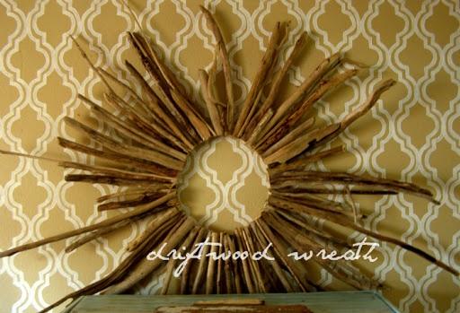Driftwood sunburst wreath