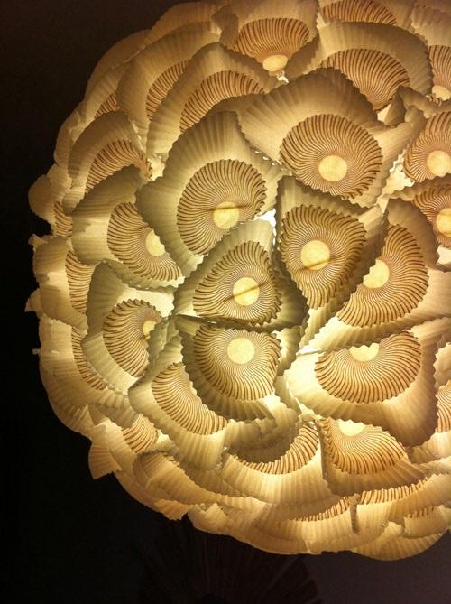 Diy project sculptural paper orb lights