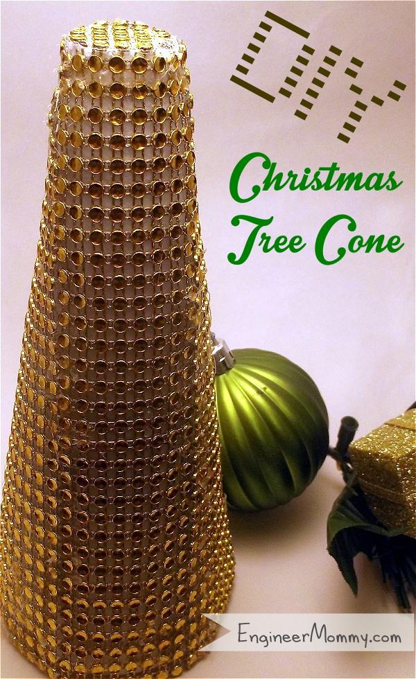 Bling Ribbon Christmas Tree Cone