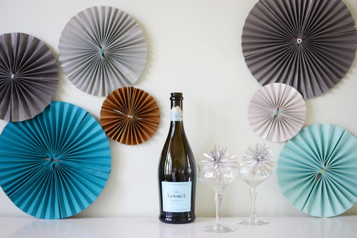 DIY Paper Pinwheels for New Year's Eve Party