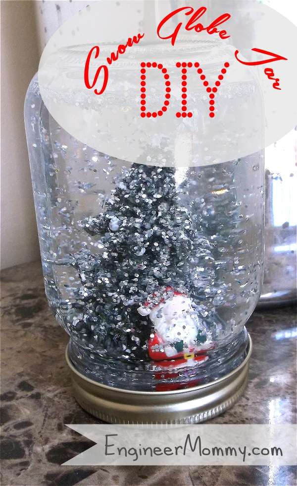 DIY Snow Globe Mason Jar