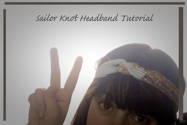 How To Sailor Knot Headband