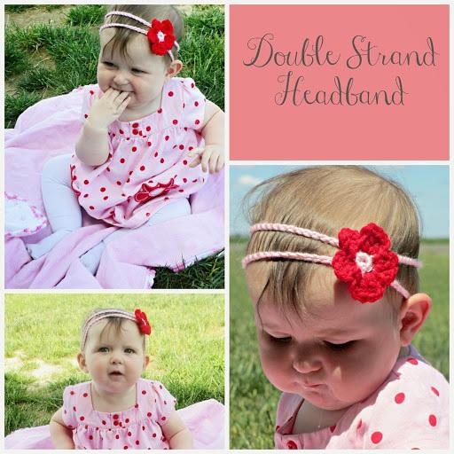 Crochet double strand headband pattern
