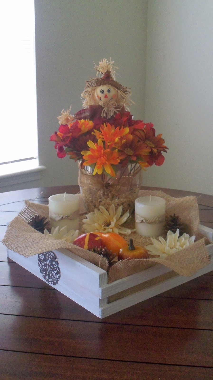 Scrapbooks, Crafts, and Cards, Oh My! Thanksgiving Centerpiece!