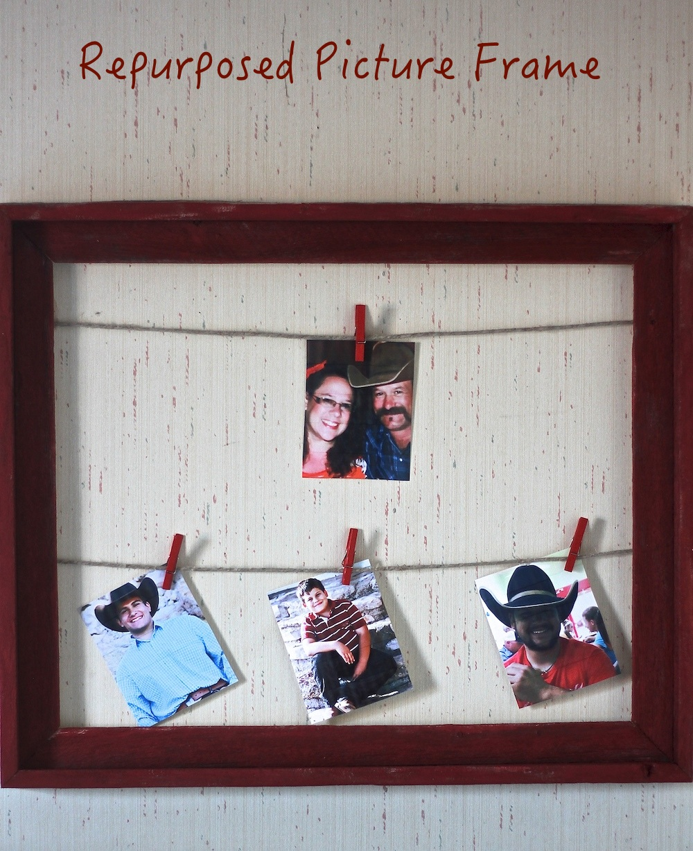 DIY Made Easy Repurposed Picture Frame