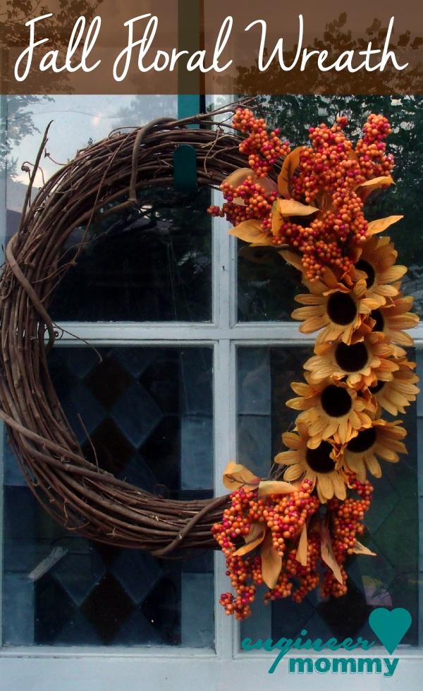 Fall Floral Wreath DIY