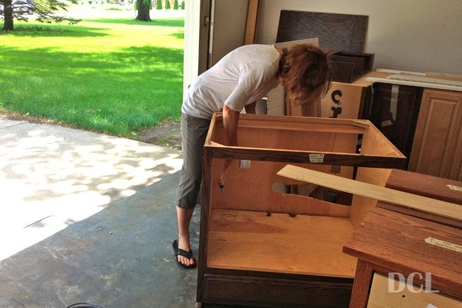 Prepping, Deglossing, & Painting Our Cabinets