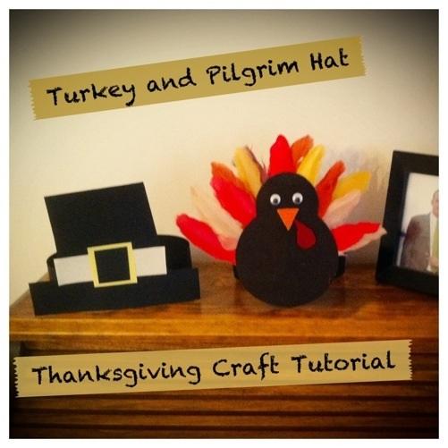 Thanksgiving Kids Crafts Turkey and Pilgrim Kids Hats