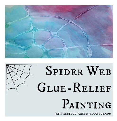 Spider Web Glue Relief Painting