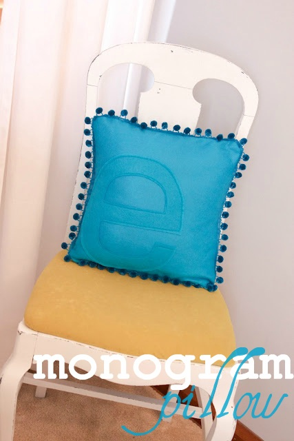 Guest Post Monogram Pillow Tutorial from The Winthrop Chronicles