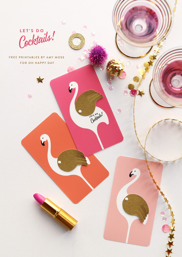 ¡®let¡¯s do cocktails¡¯ printable invitations