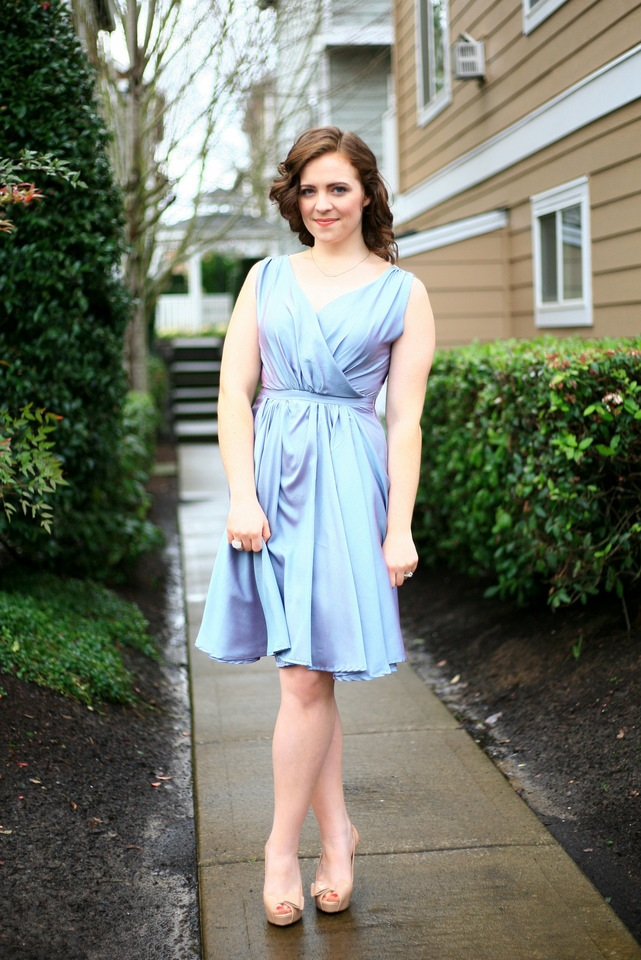 Shimmery blue sort of retro party dress!