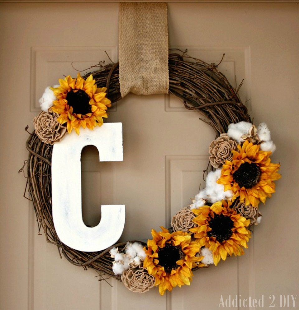 Fall Monogram Wreath