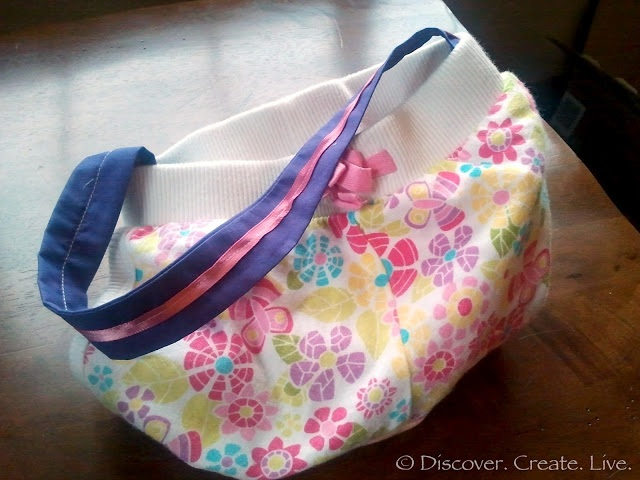 Upcycling Toddler Shorts Into A Toddler Purse