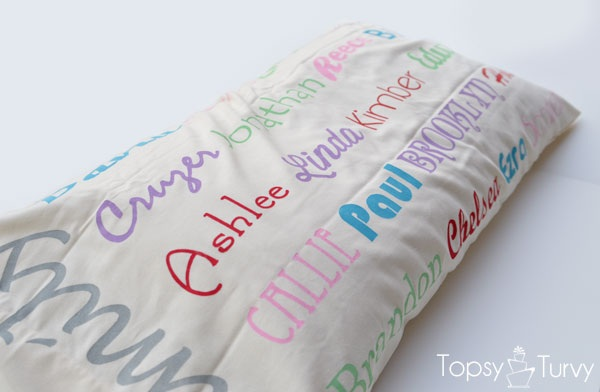 Mothers day gift Family subway art pillow case