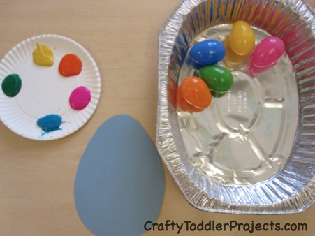 Marble Painting with Easter Eggs