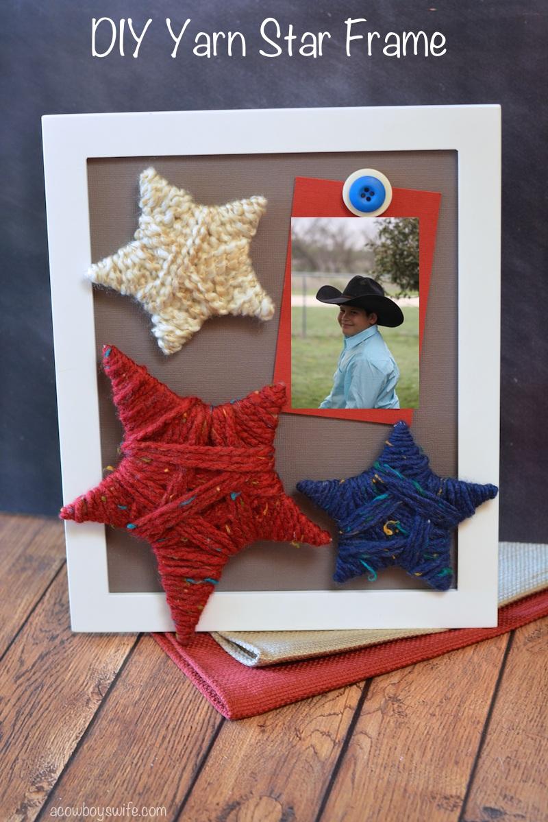 DIY Yarn Star Frame Craft