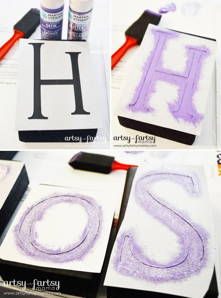 Cardstock Stencil Tutorial
