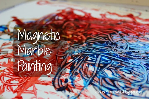 Magnetic Marble Painting