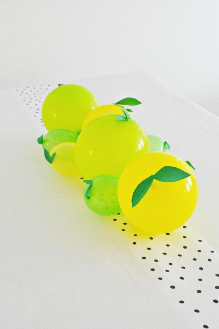 Lemon + Lime Balloon Centerpiece