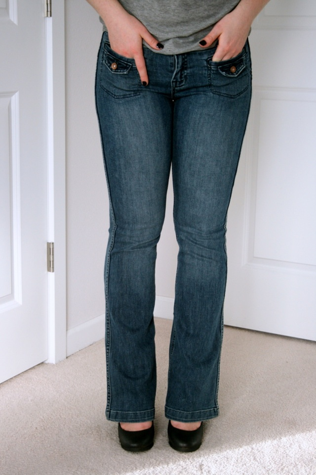 How to make jeans a little longer with a hem facing!