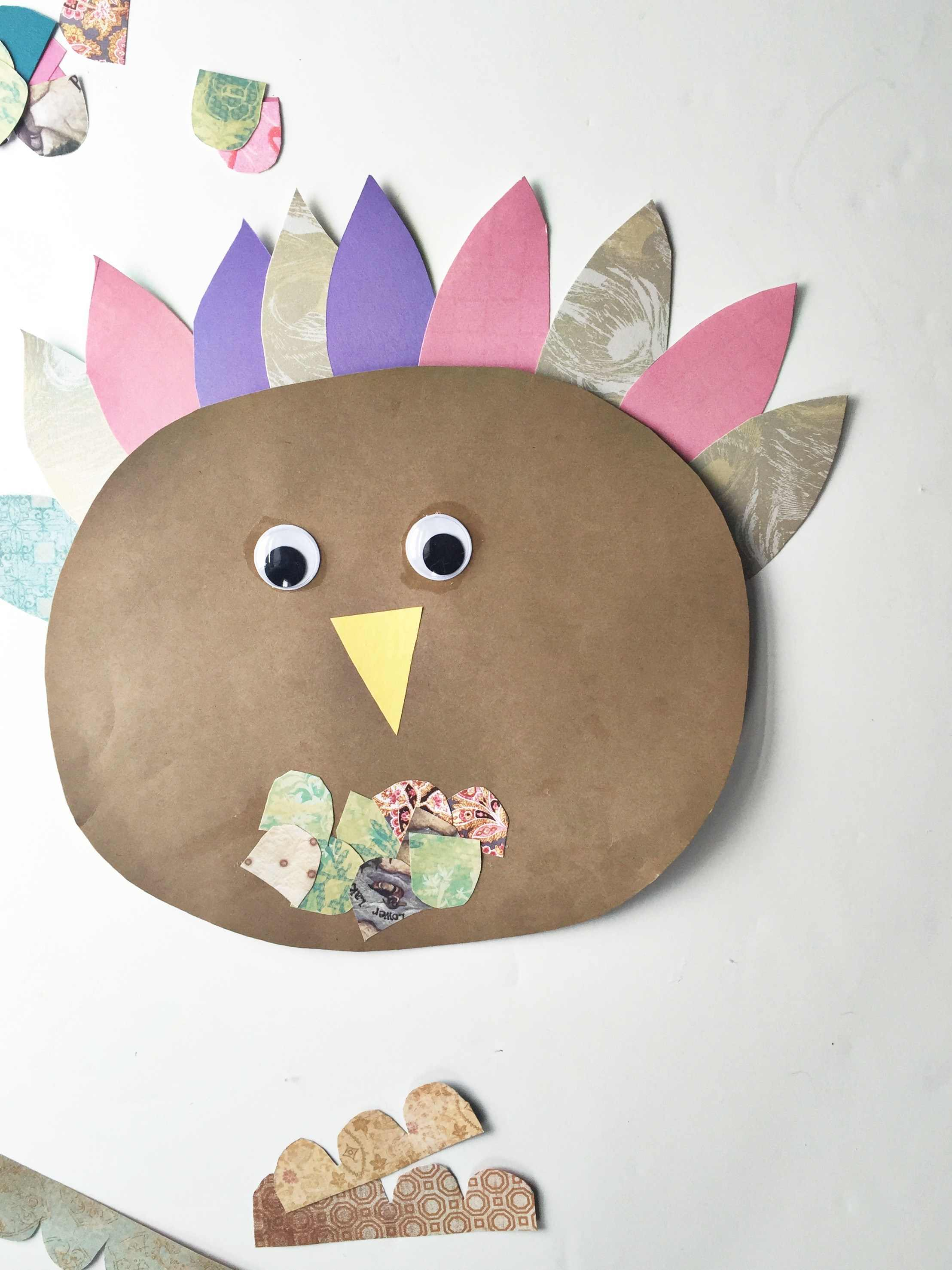 Last Minute Craft DIY Scrap Paper Turkey