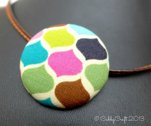 [Necklace]  Colorful Fabric Pendant