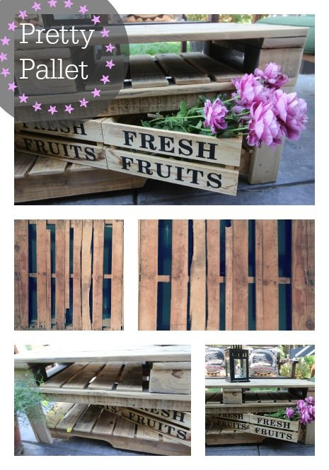 You Need to Make this Delightful Backyard Pallet Coffee Table