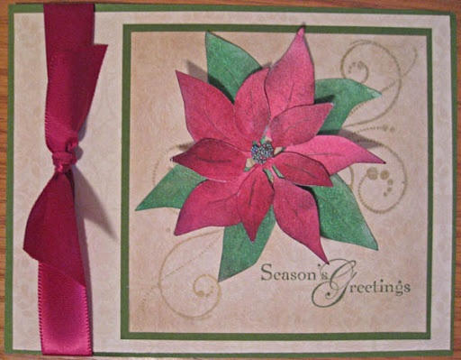 Paper, Scissors, Ink. Poinsettia Card SVG for Scal