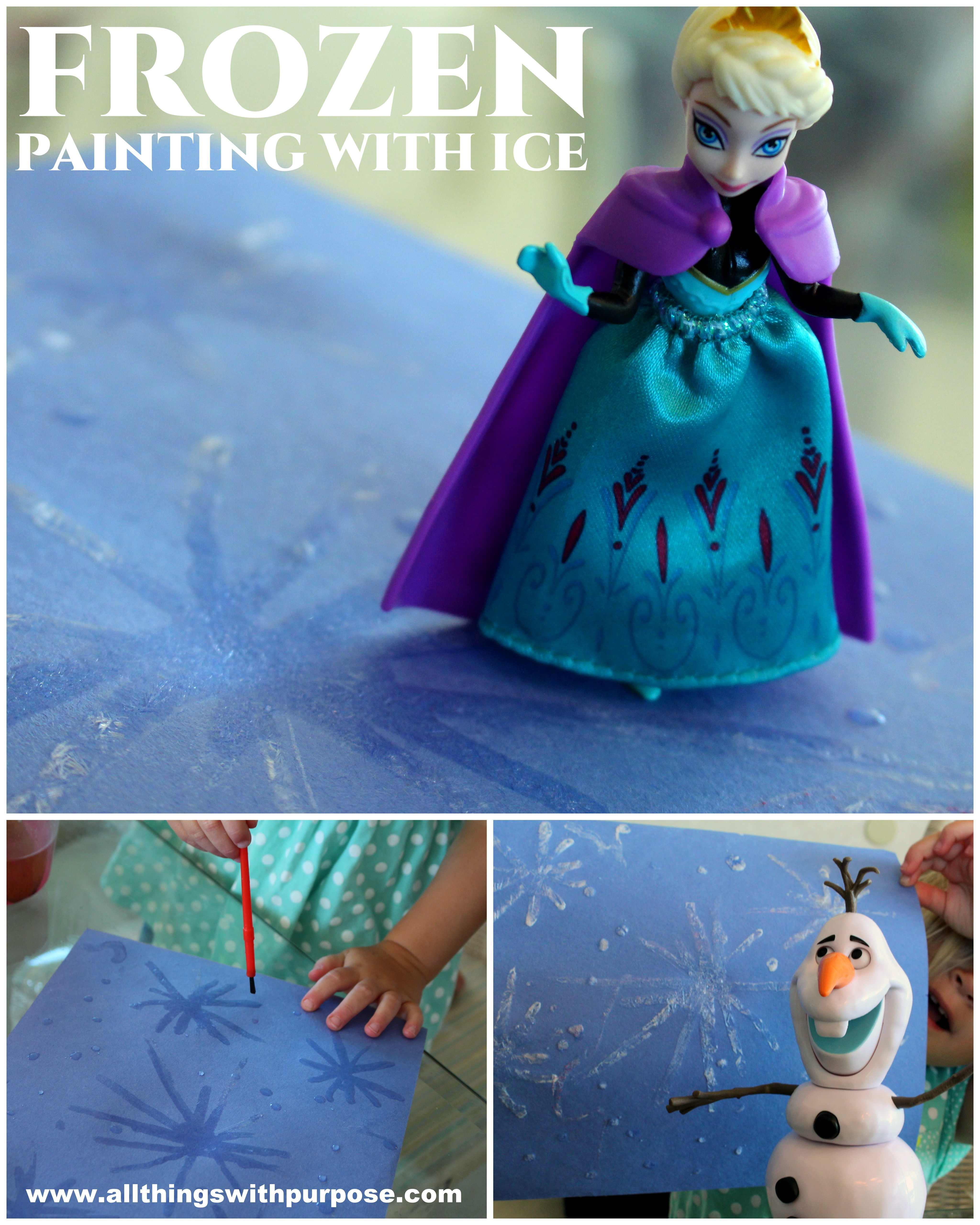 Frozen Ice Painting