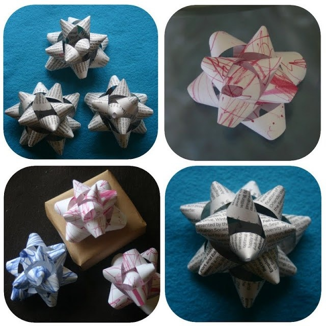 Turn baby scribbles into bows (Gift Bow Tutorial)