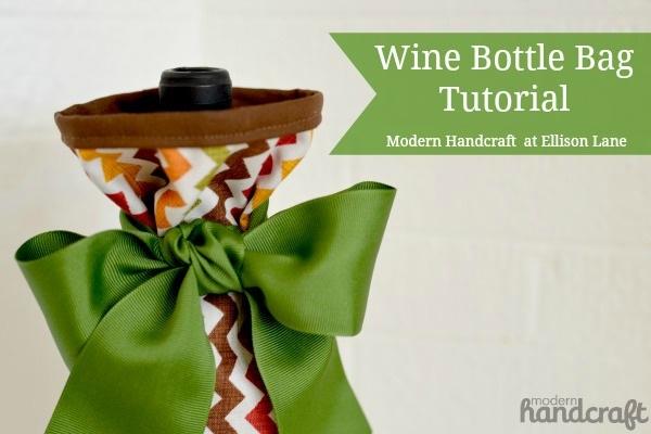 Wine Bottle Bag Tutorial Holiday Hostess Series