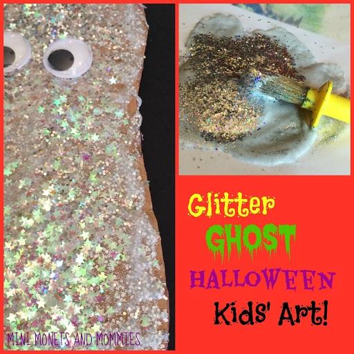 Glitter Ghost Halloween Puppet