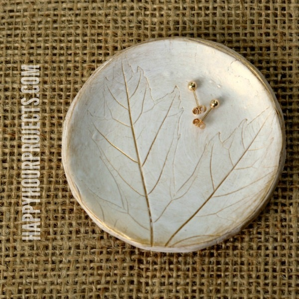 Leaf Imprinted Polymer Clay Jewelry Dish
