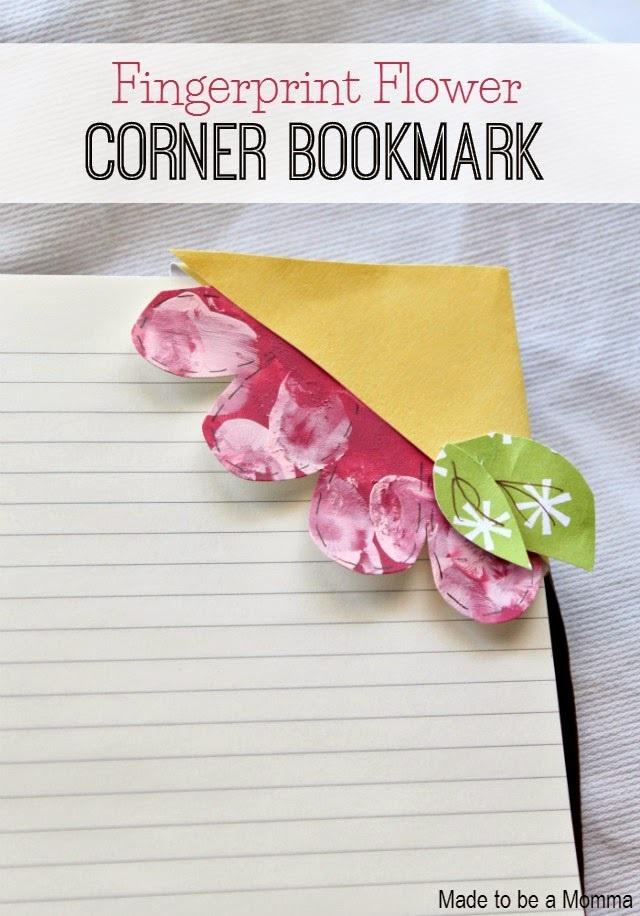 Fingerprint Flower Bookmark
