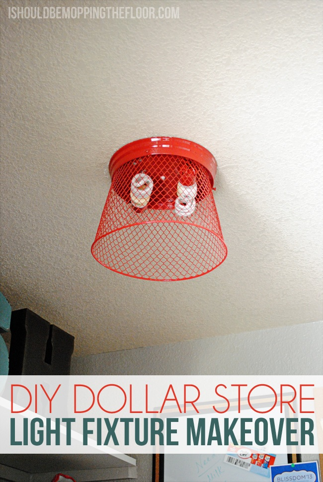 DIY Dollar Store Light Fixture Transformation