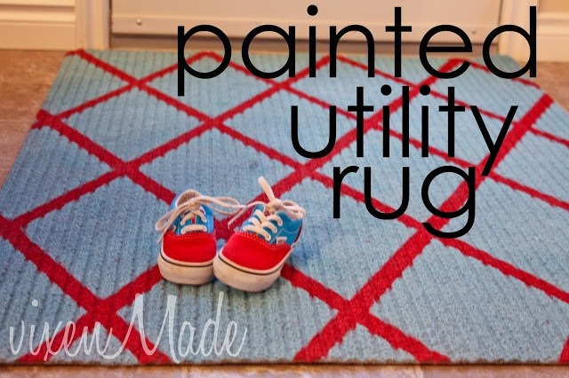 Painted Utility Rug vixenmade parties