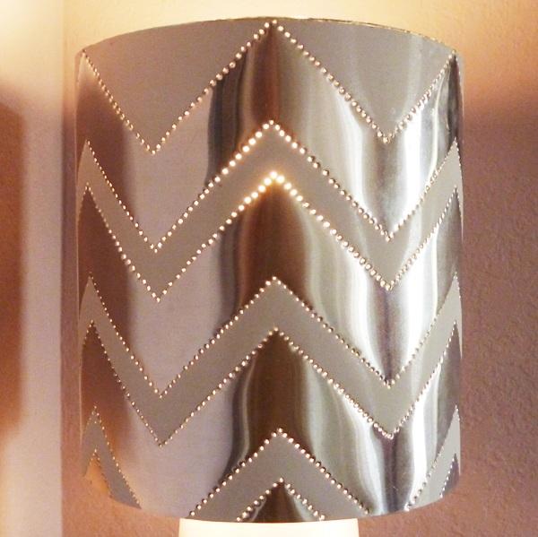 Modern Tin Punch Lampshade
