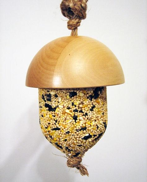 Diy project kate's acorn bird feeder