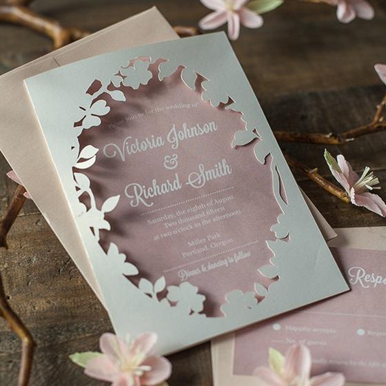 Spring Blossom Printable Wedding Invitations