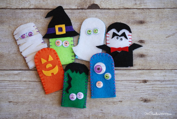 Adorable Felt Halloween Finger Puppets