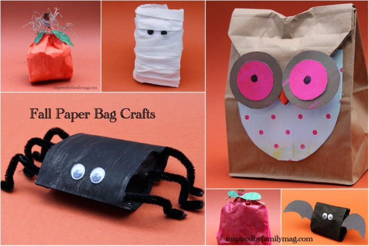 Fall Paper Bag Crafts Inspired by Familia