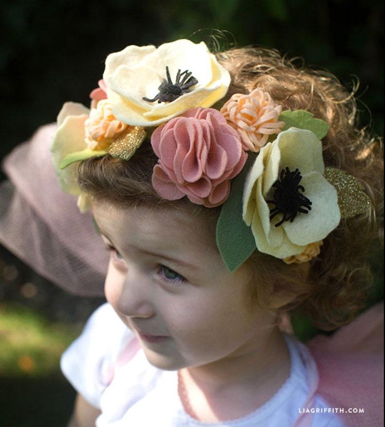 Fairy Felt Flower Headband