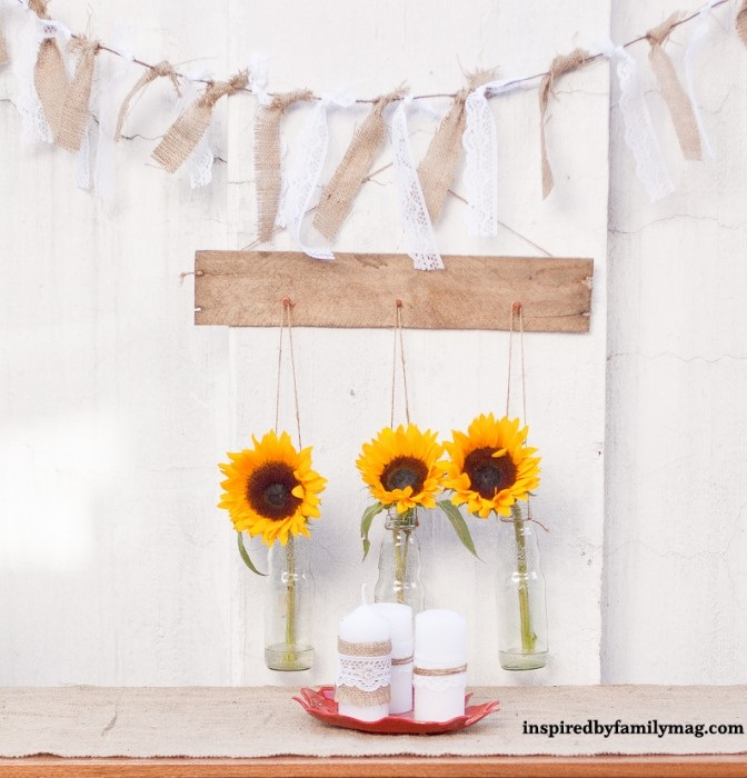 Pallet Wall Decor Hanging Vases Inspired by Familia