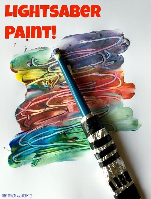 Star Wars Crafts for Kids Lightsaber Painting
