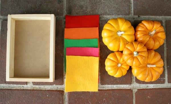 Halloween Activities for Toddlers Mini Pumpkins and Felt