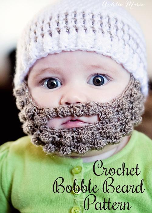 Crochet Bobble Beard pattern _ multiple sizes