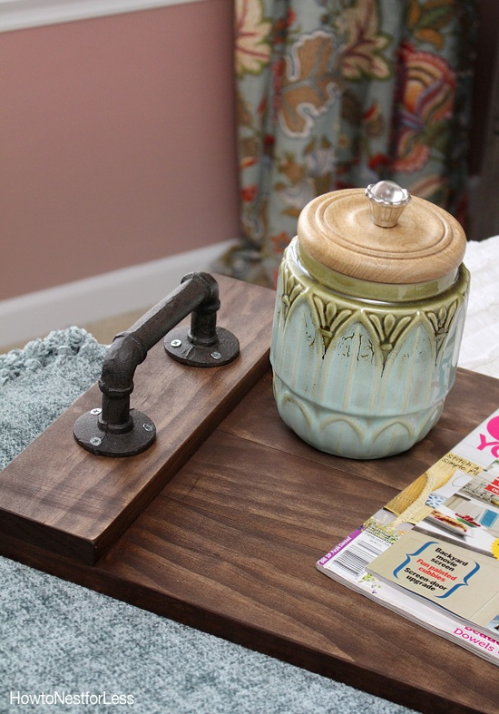 DIY Stained Wood Tray How to Nest for Less?